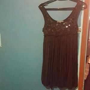 Black sparkled dress